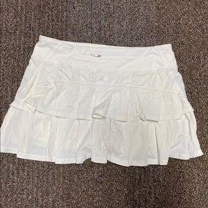 Lululemon White Pacesetter Skirt